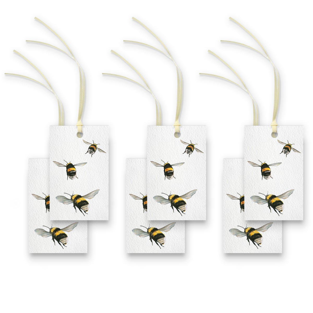 Image of Bumble bees Gift Tags - Set of 6