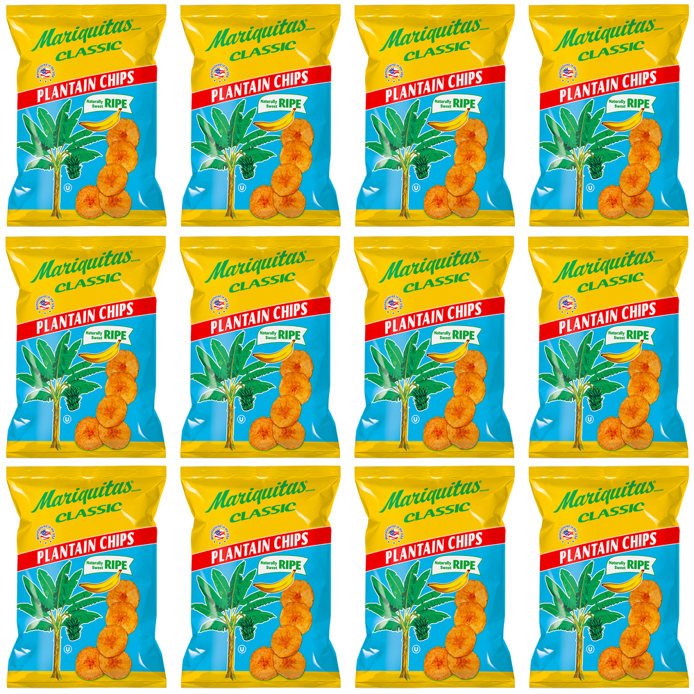 Image of Mariquitas Plantain Chips Ripe/Sweet (4.5 oz, 12 Pack)