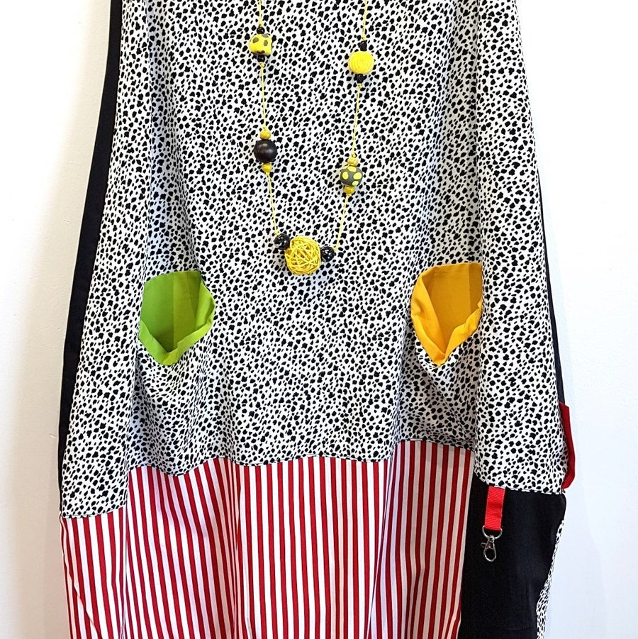 Image of fabric collage dress...small