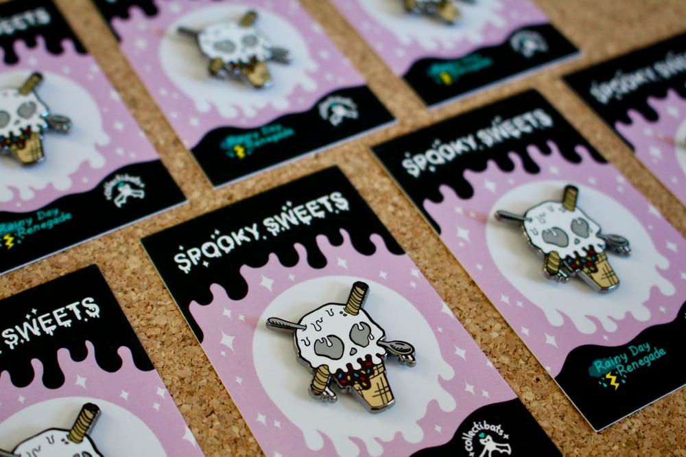 "Spooky Sweets - ""Skullcone"" Ice Cream Pin"