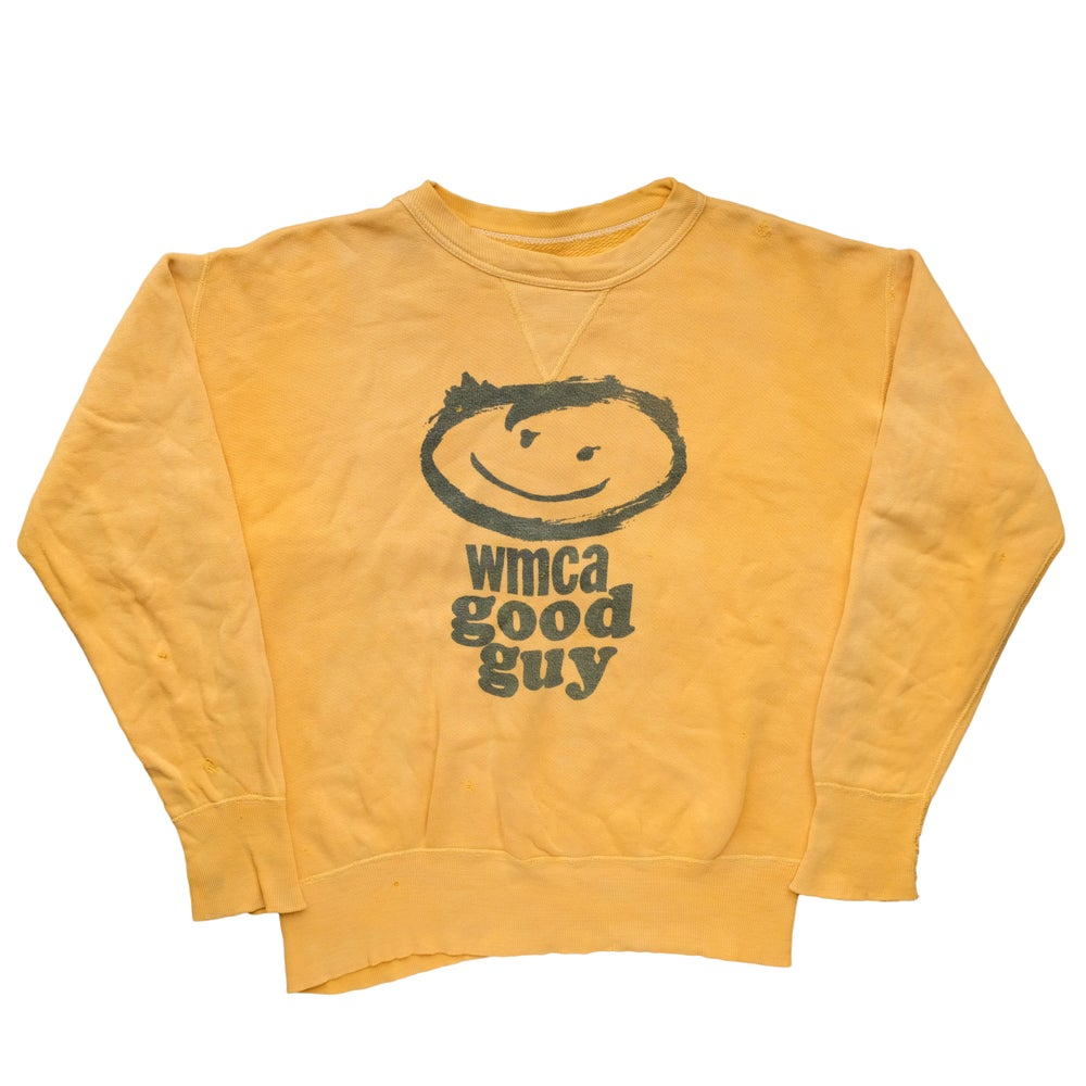 Image of Vintage 1960's WMCA Good Guy Yellow Sweatshirt