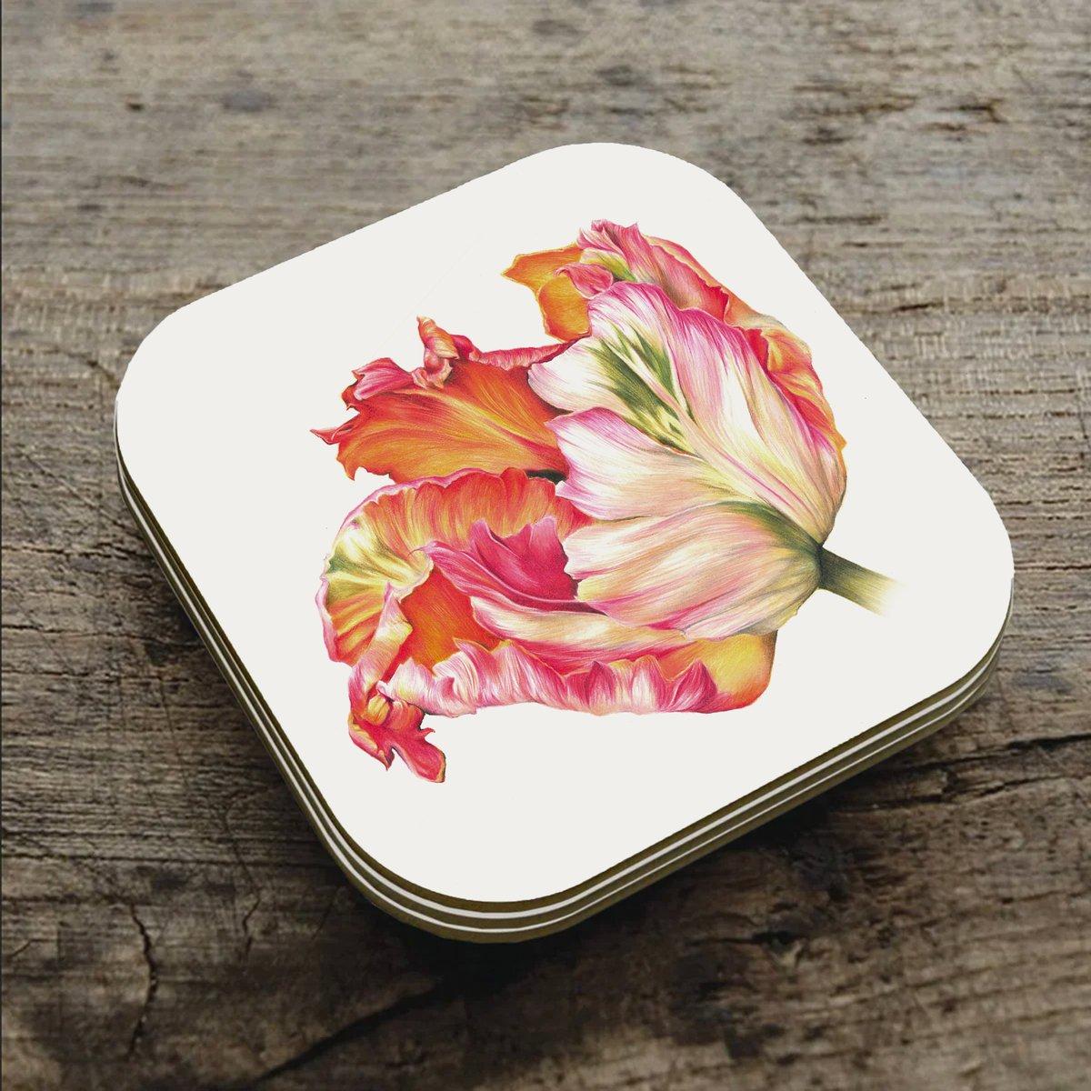 Image of Apricot Tulip - Coaster