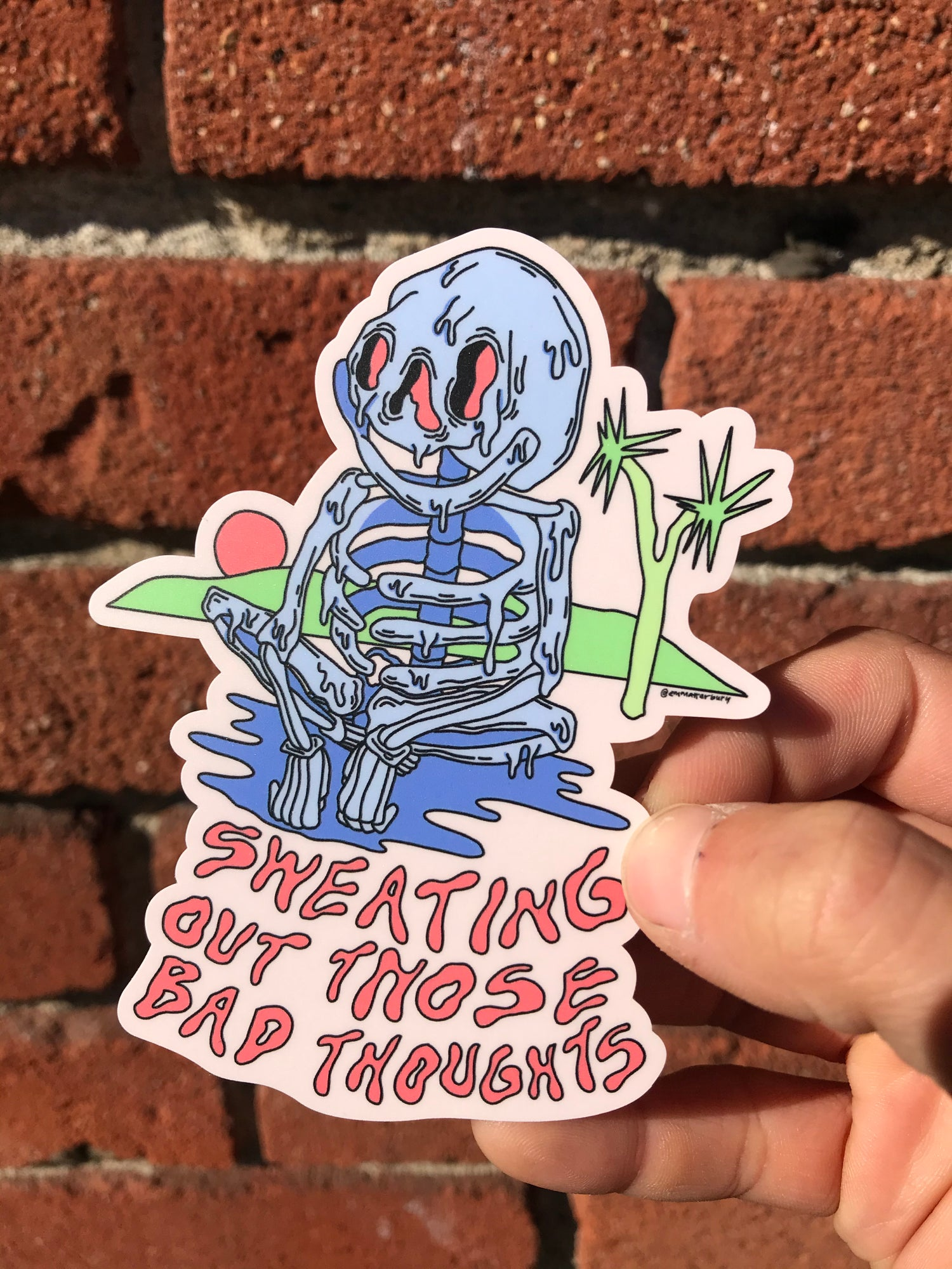 Image of Sweating Sticker
