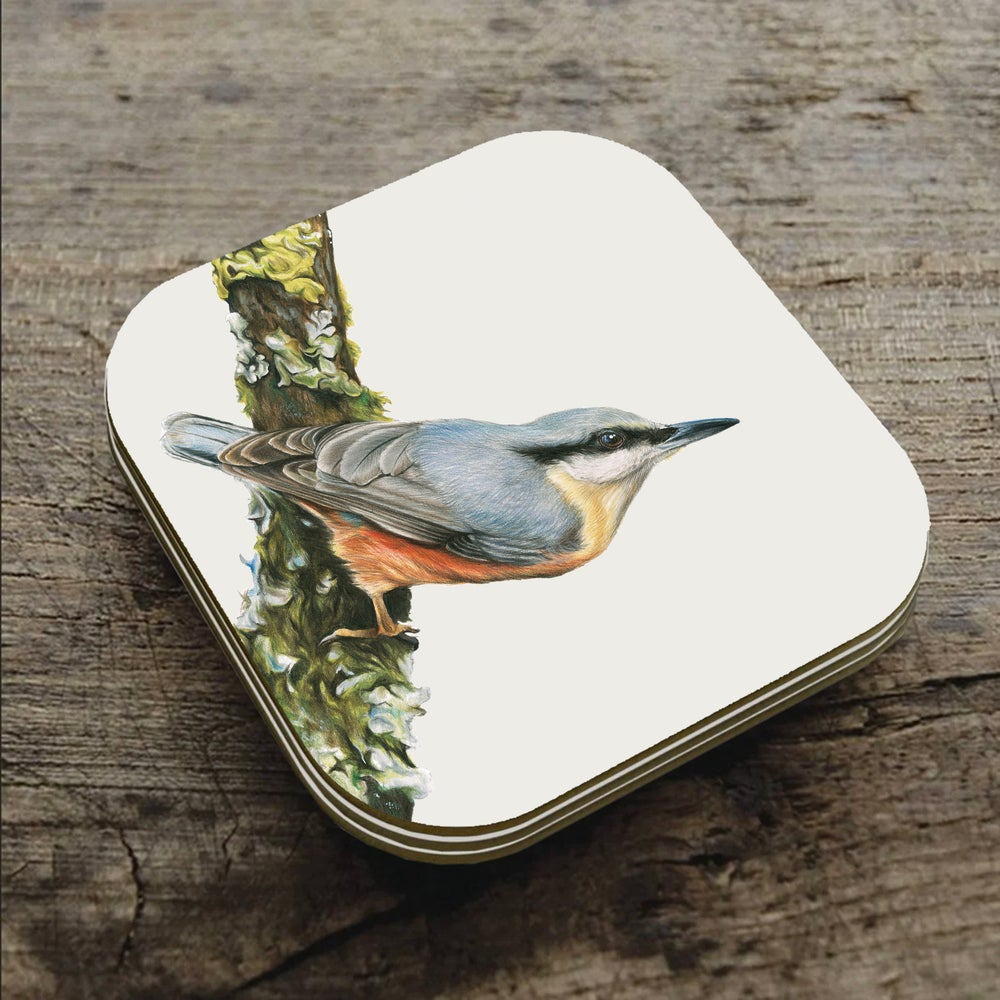 Image of 'Nuthatch' - Coaster