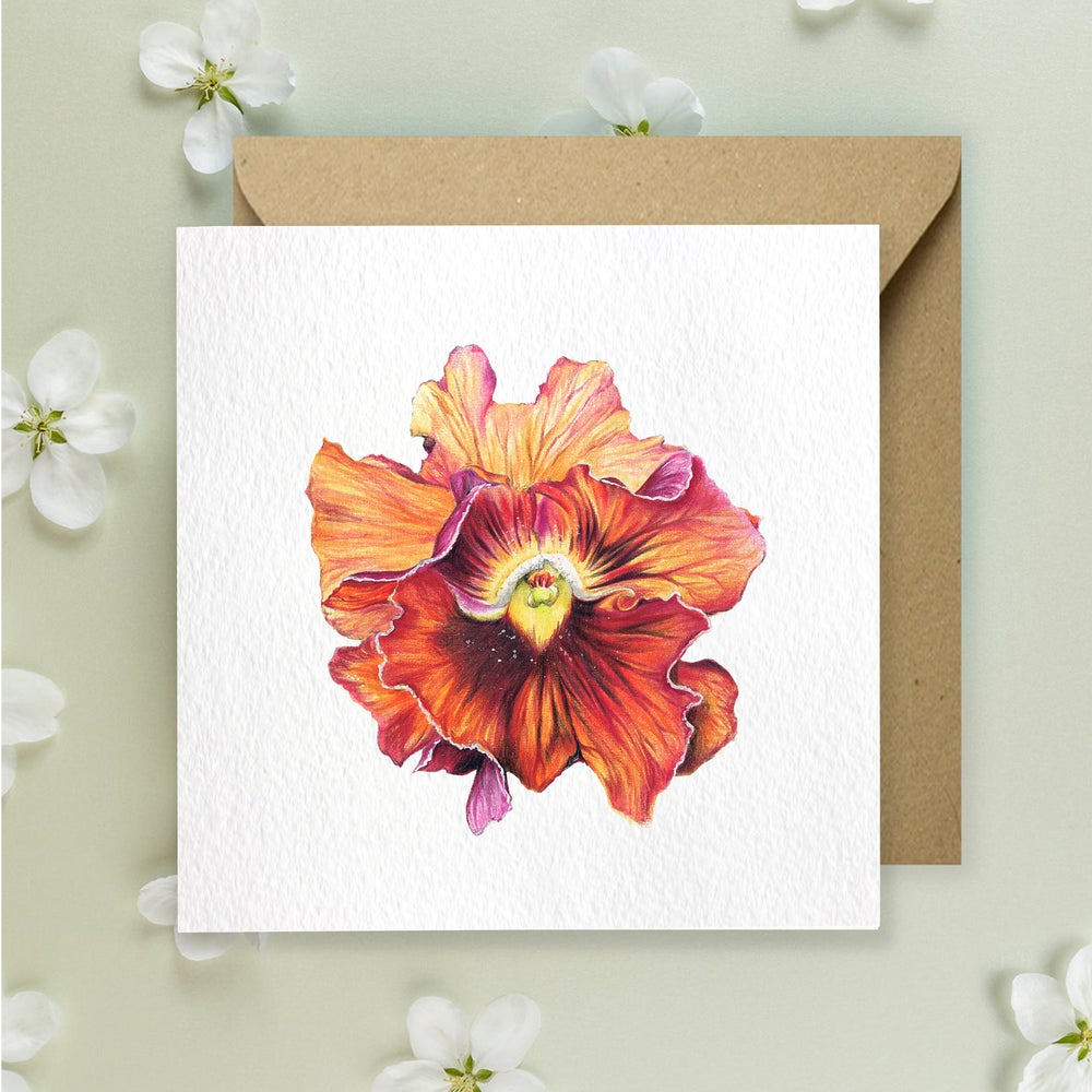 Image of Pansie - Greeting Card