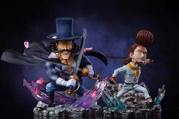 Image of [Last-Stock]One Piece G5 Studio White Bearded Pirates Vista & Thatch Set Resin Statue