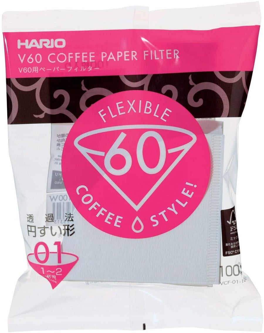 Image of Filtres Hario dripper V60 blanchis taille 1, ou 3