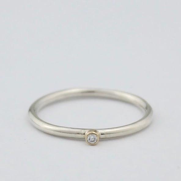 Image of Handmade teeny diamond ring