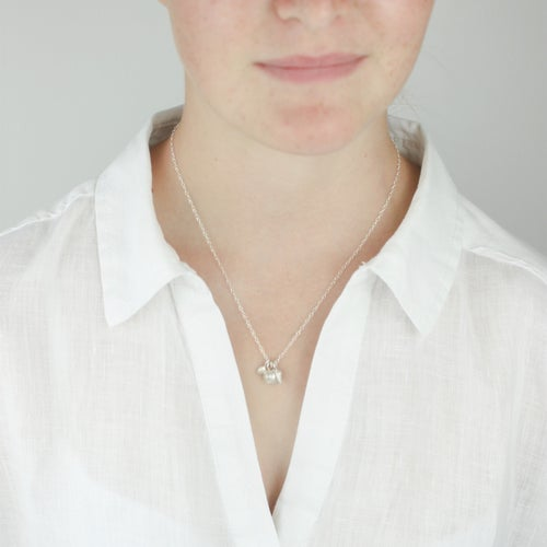 Image of silver shell necklace