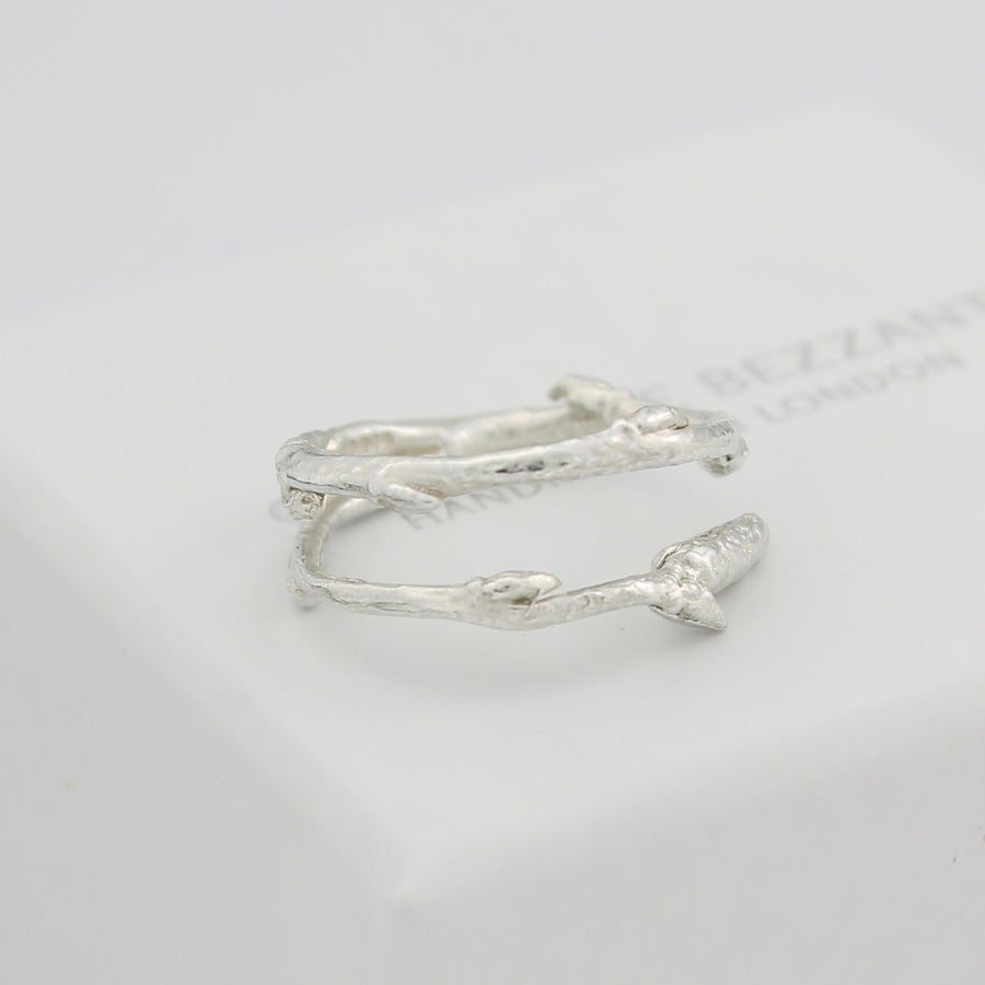 Image of silver Arctic twig ring