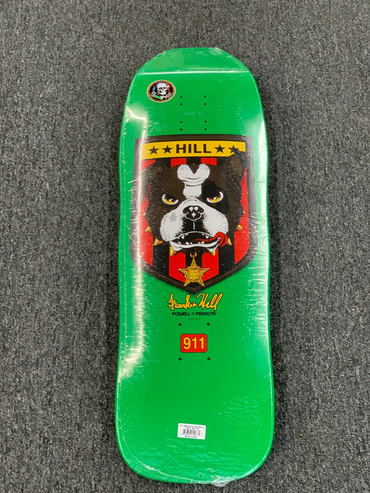 Image of Powell Peralta Frankie Hill Bulldog Skateboard Re-Issue Deck Green