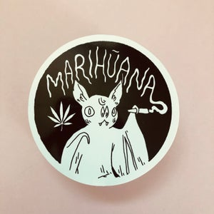 Image of Bat Marijuana Sticker