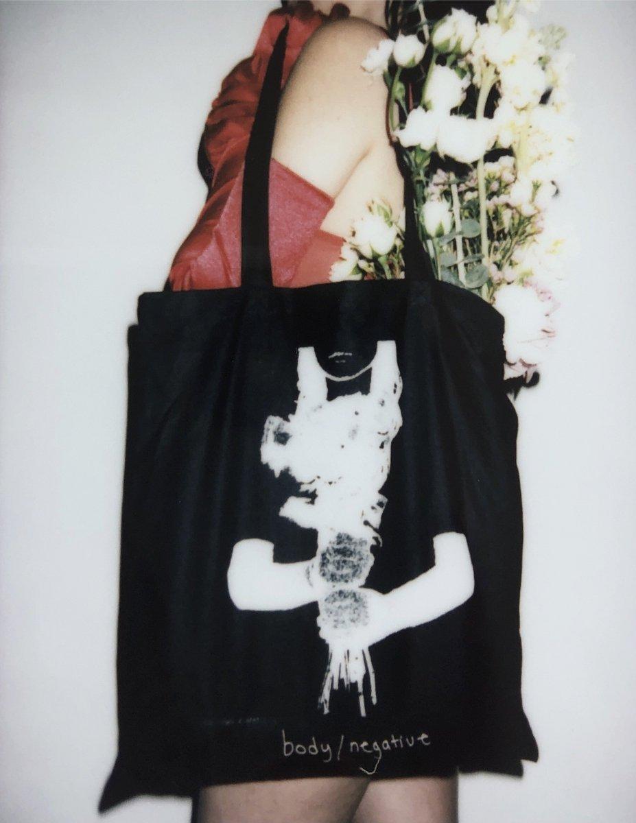 BODY / NEGATIVE Flower Tote Bag