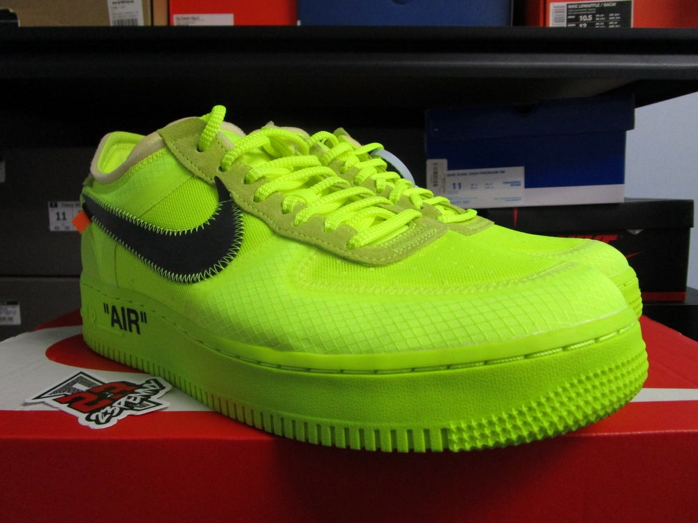 """Image of Air Force 1 Low x OFF-WHITE """"Volt"""" *PRE-OWNED*"""