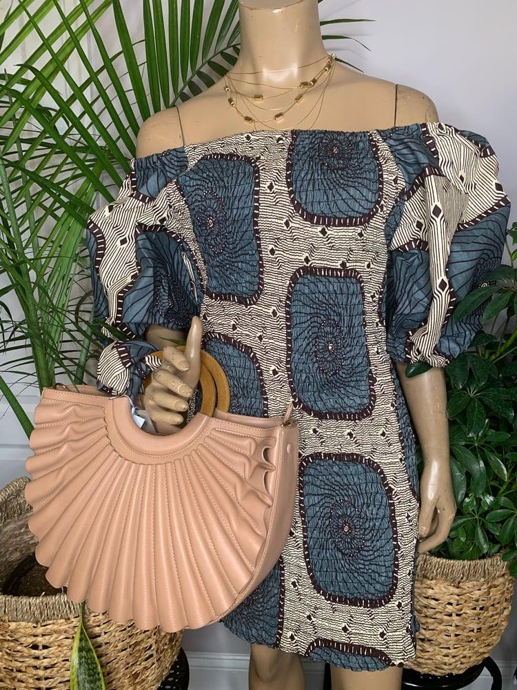 Image of Blue Safari mini dress