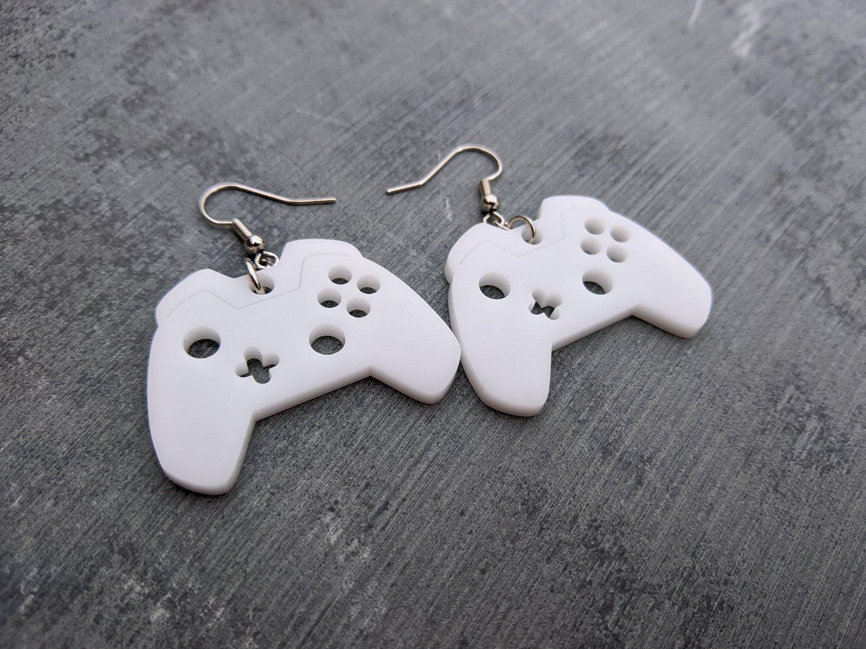 Modern Game Controller Earrings
