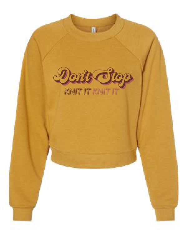 Image of Don't Stop Crop -Mustard