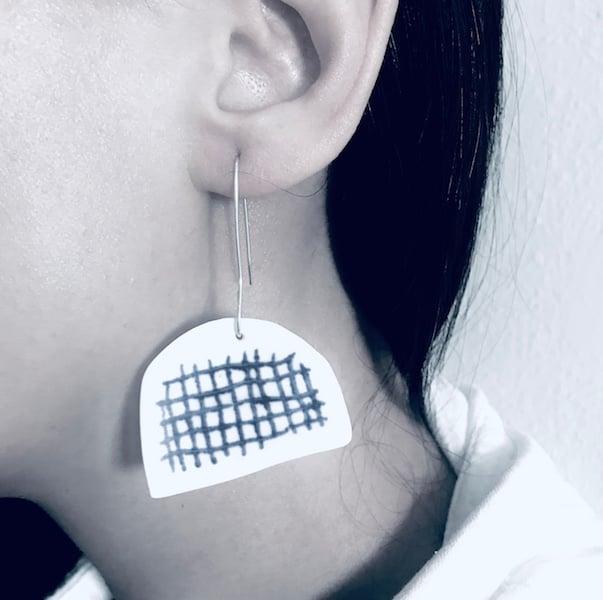 Image of Warp + Weft ceramic earrings