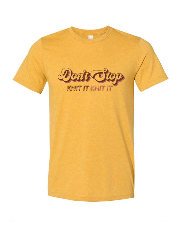 Image of Don't Stop Tee - Mustard