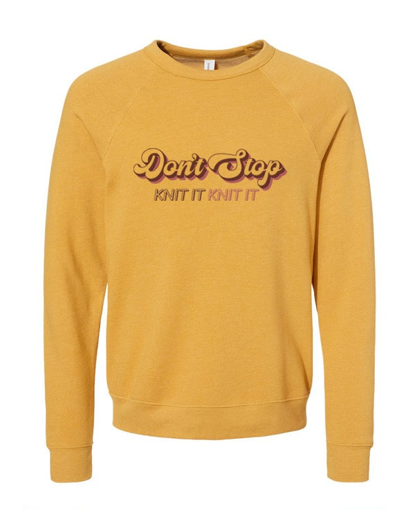 Image of Don't Stop - Unisex Sweatshirt  Mustard