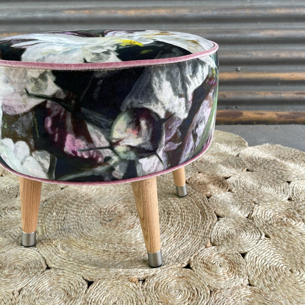 Image of Ginger glass top side table / footstool