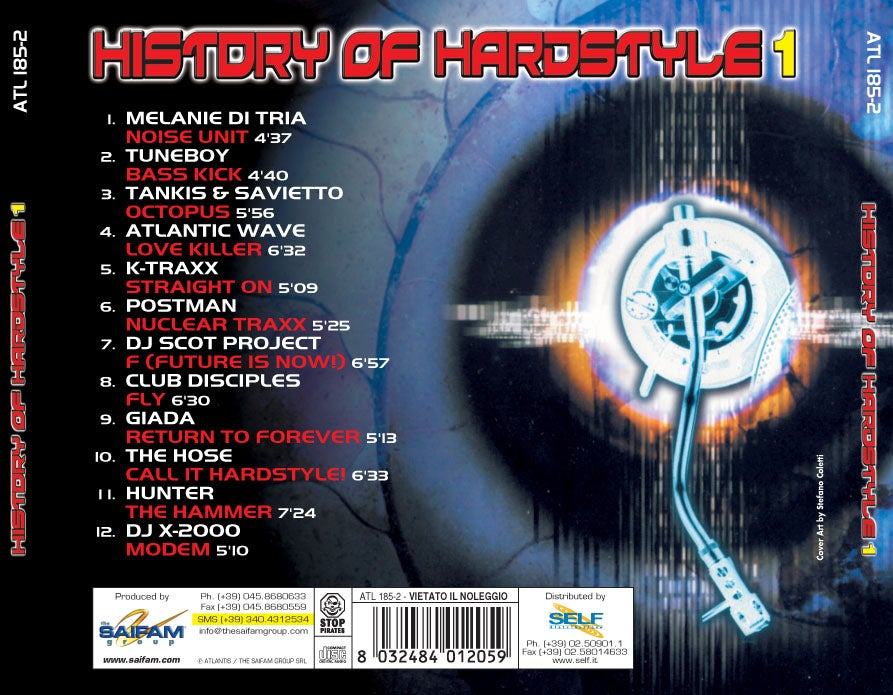ATL185-2 // HISTORY OF HARDSTYLE 1 (CD COMPILATION)
