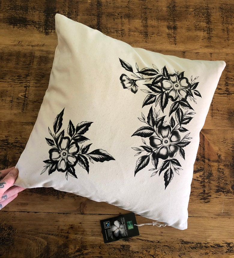 Image of Rebecca Vincent floral cushion