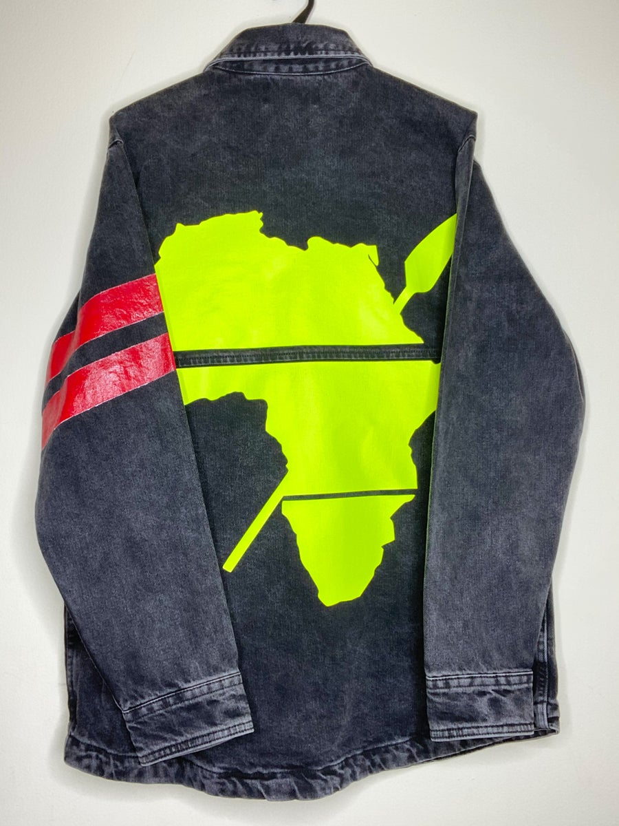 """Image of LIMITED EDITION """"CONTEMPORARY AFRICAN SHIRT JACKET""""(BLACK)"""