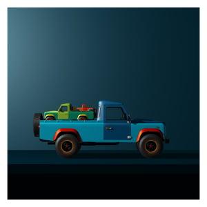 Image of Land Rover Defender Art - Still Life