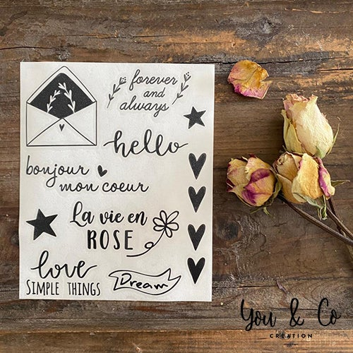 """Image of Planche stickers """"Petits mots"""" (version 3)"""