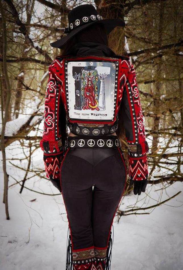 Image of Toxic Vision Tarot Woman biker jacket