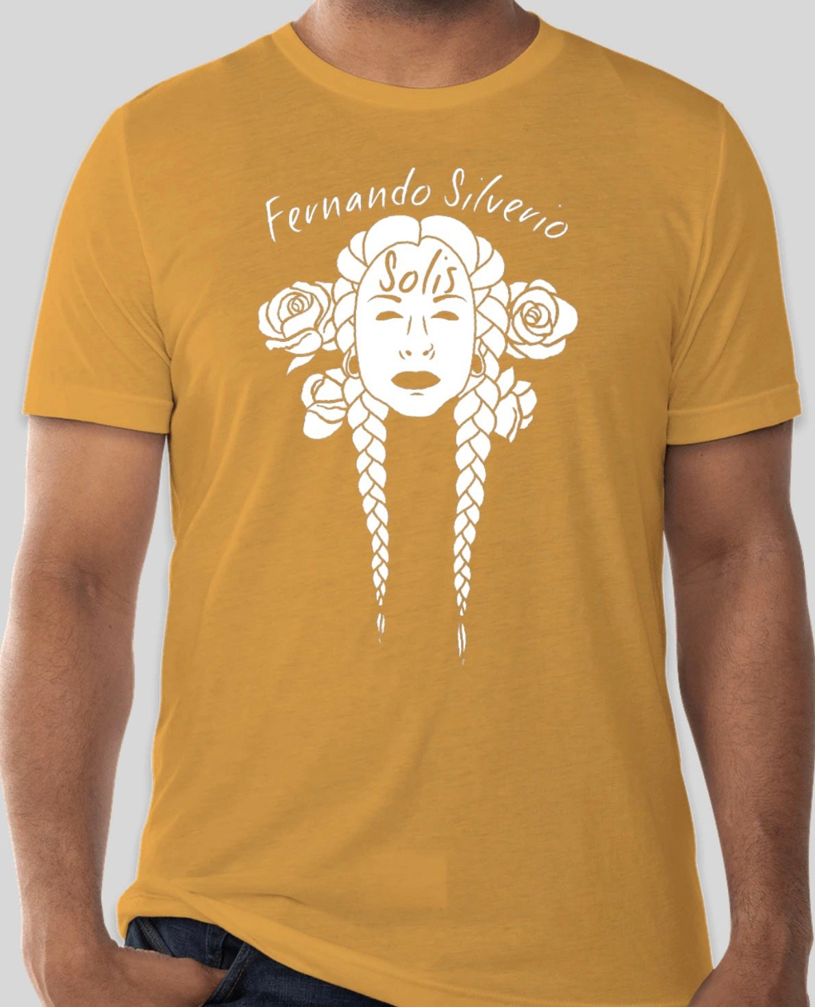 Image of Braids & Roses Shirt (Mustard, Orchid, Peach)