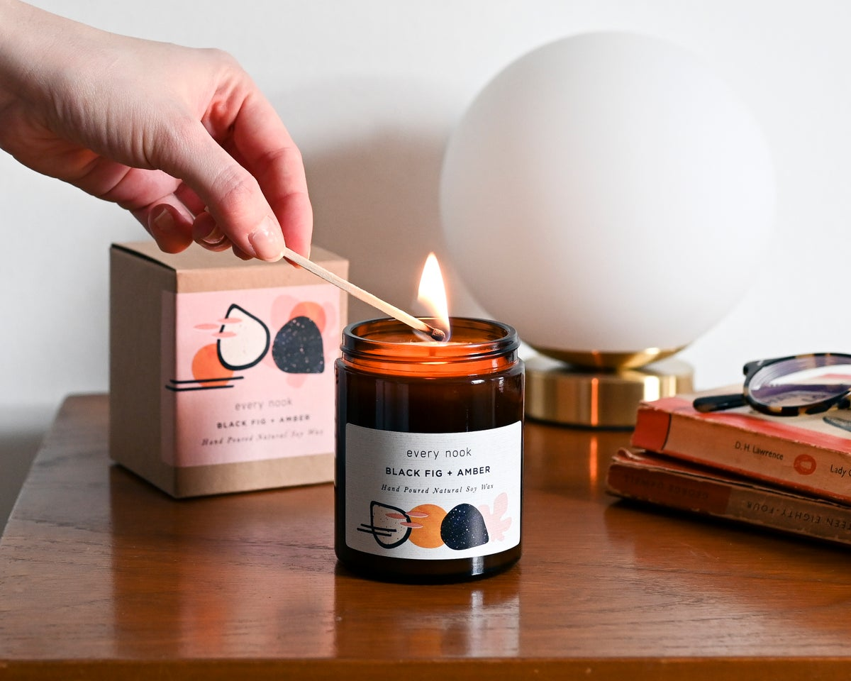 Image of Black Fig & Amber Candle