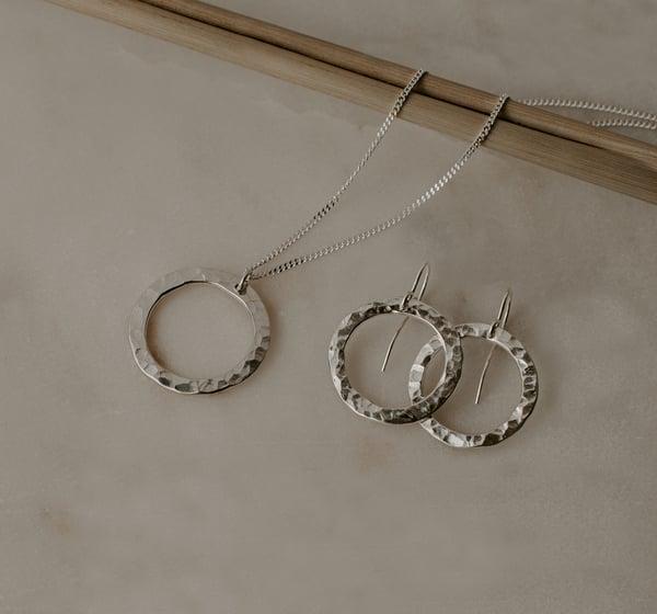 Image of Hammered Silver Set