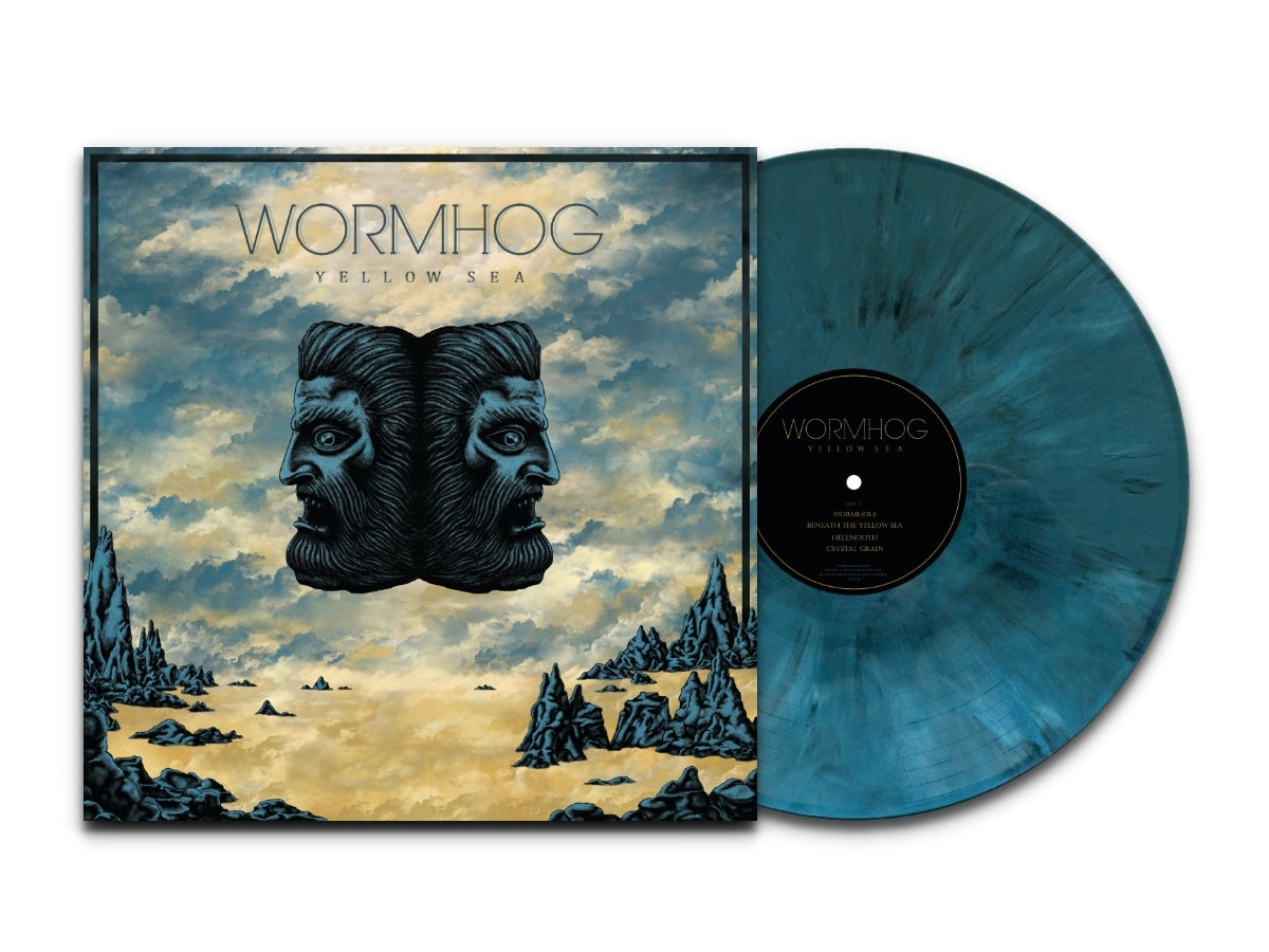 Image of Wormhog - Yellow Sea LTD Blue Marbled Vinyl