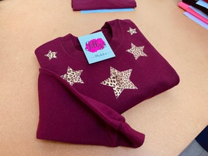 Image of Ally star collar sweater - adult