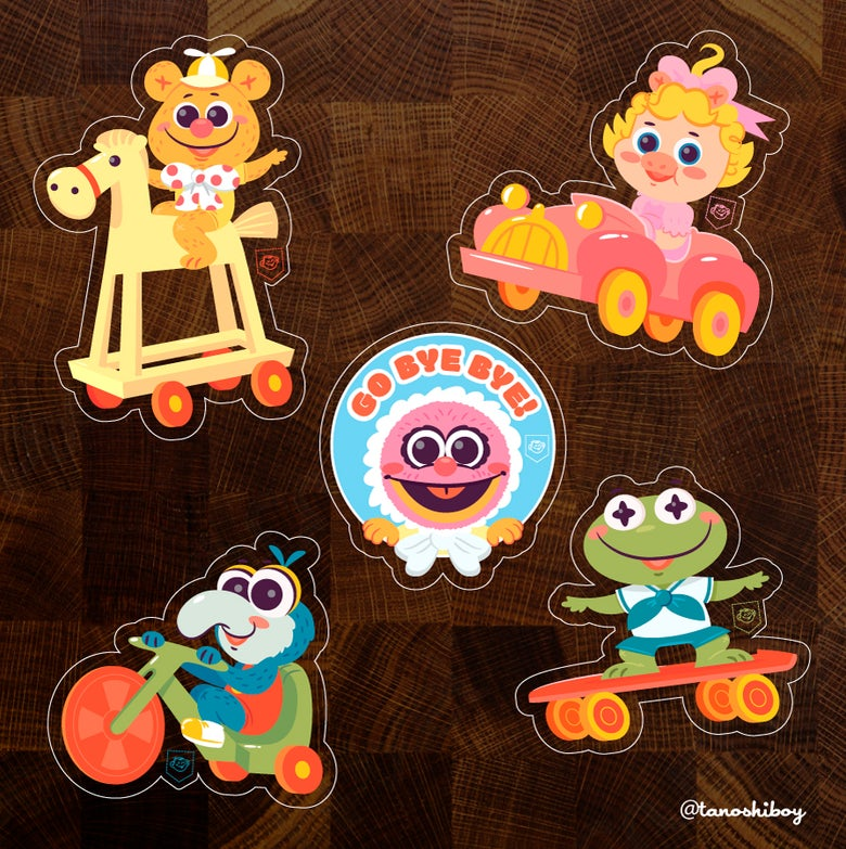 Image of Muppet Babies Sticker Set