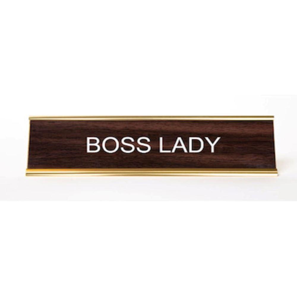 Image of Boss Lady Nameplate
