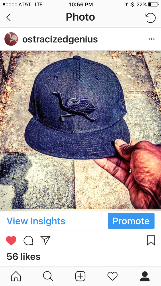 Image of OG Mascot Fitted (black on black logos)
