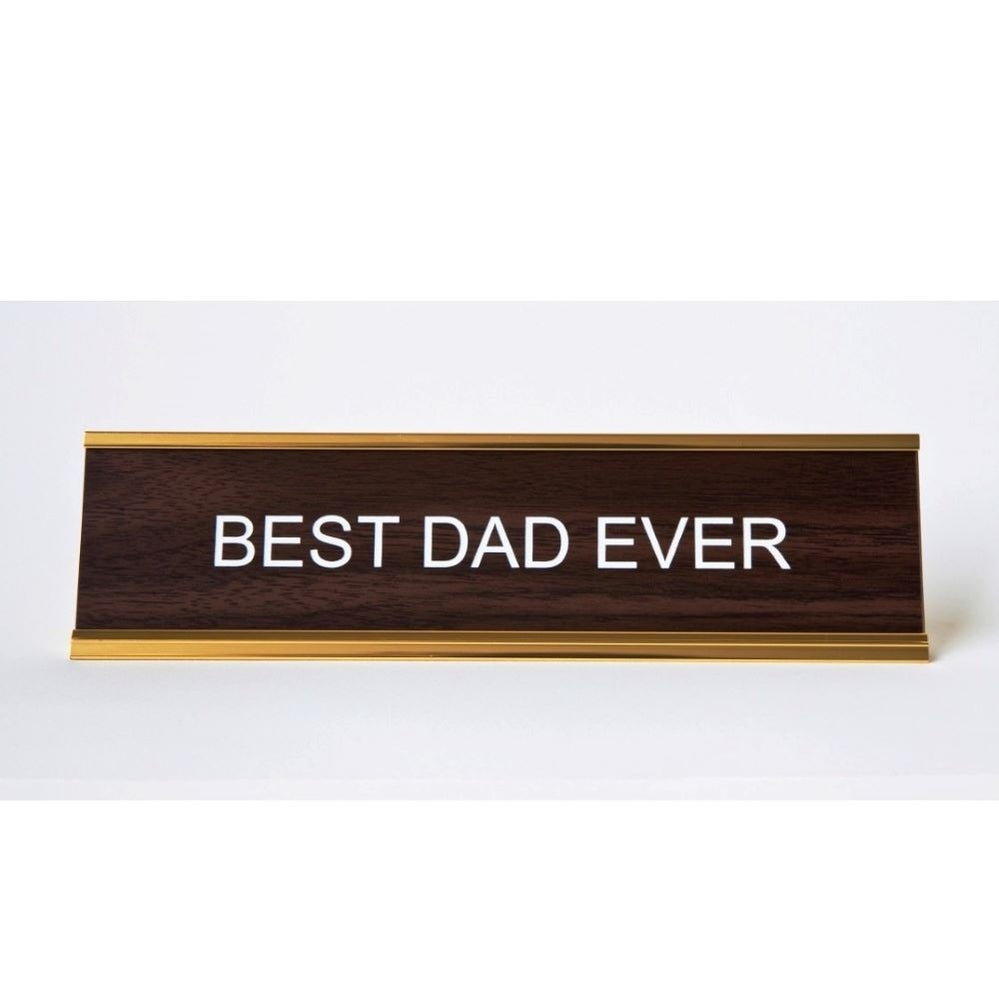 Image of BEST DAD EVER nameplate