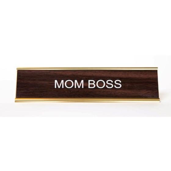 Image of Mom Boss nameplate