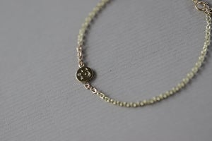 Image of 9ct gold, Moon and Stars bracelet with diamond