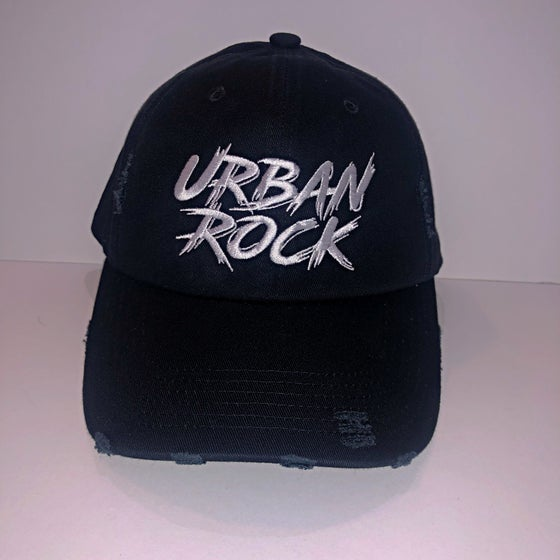 Image of Distressed Urban Rock Font/Hand Dad Hats