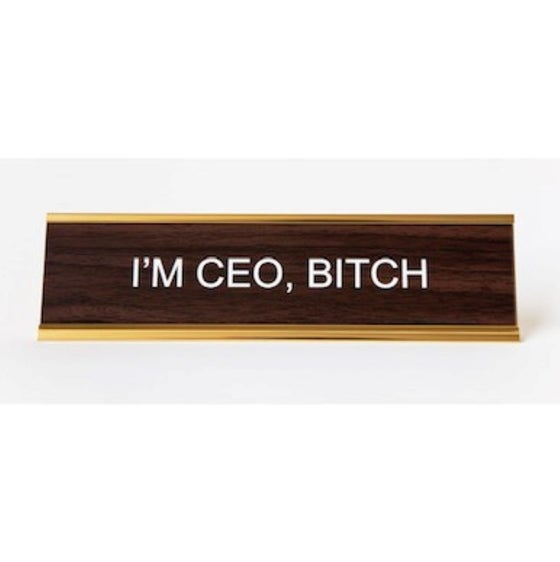 Image of I'M CEO BITCH nameplate
