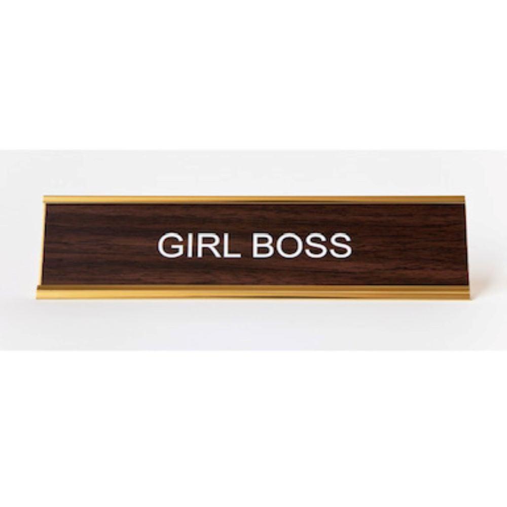 Image of GIRL BOSS nameplate