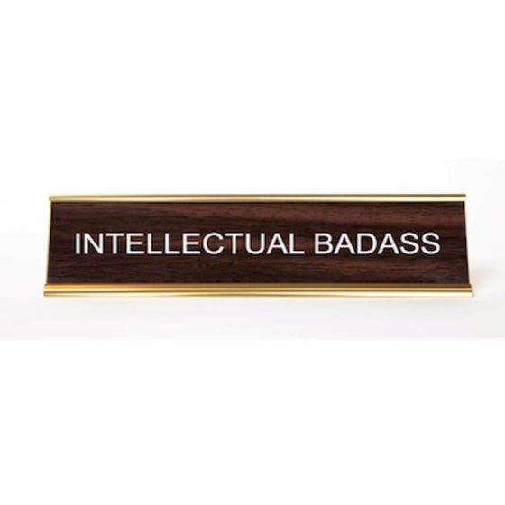 Image of Intellectual Badass Nameplate
