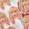Taylor Swift Lover Face Sticker