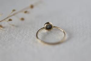Image of 18ct gold, Grey rose-cut diamond ring IOW170