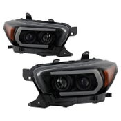 Image of Spyder Signature Series Smoked Black Projector Headlights for 2016-2020 Tacoma