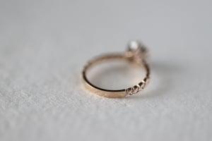 Image of 18ct Rose Gold, Brilliant cut grey diamond ring IOW171